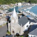 "The Sakitsu settlement, with the church at the center, is one of 12 sites recognized by UNESCO's World Heritage Committee as the ""Hidden Christian Sites in the Nagasaki Region."""