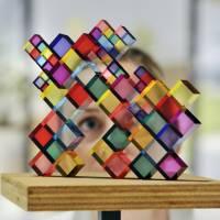 'Stacked Colours,' one of 100 works of architect Sou Fujimoto's 'Futures of the Futures' exhibition. | ADRIAN BROOKS/IMAGEWISE