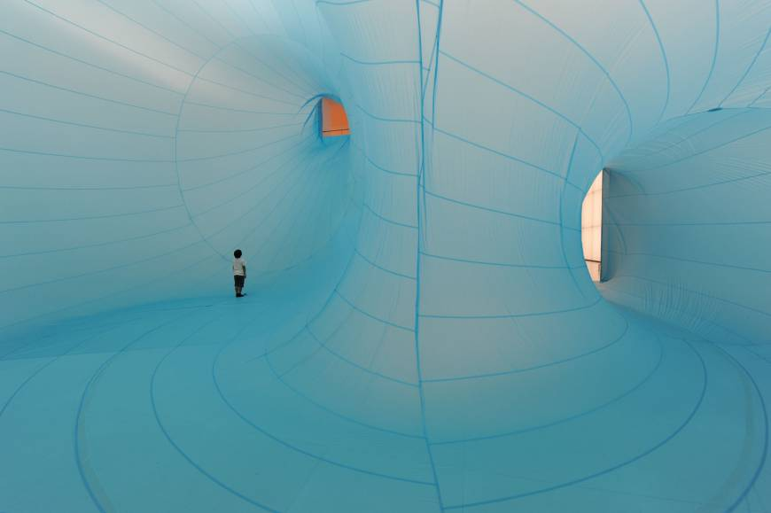 Perspective: Shiro Matsui's 2011 piece 'One Man's Ceiling is Another Man's Floor.' | TOYOTA MUNICIPAL MUSEUM OF ART