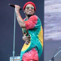 Festival MVP: Anderson Paak's Sunday afternoon set was a great gift to those who made it through Saturday's typhoon.   JAMES HADFIELD