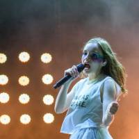 Take me to chvrch: Lauren Mayberry and the rest of Chvrches headline the White Stage on Sunday. | JAMES HADFIELD
