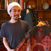 Fresh blood: 32-year-old Yo Kanno of Kanno Textile, which sells clothing that incorporates antique fabrics sourced from across Asia. | KIT NAGAMURA