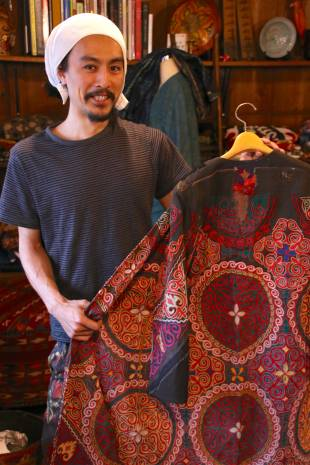 Fresh blood: 32-year-old Yo Kanno of Kanno Textile, which sells clothing that incorporates antique fabrics sourced from across Asia.