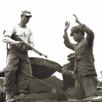 Young recruits: Pictures help illustrate the stories told by people who lived through the 1945 Battle of Okinawa.  © 2018 'Boy Soldiers: The Secret War in Okinawa' Production Committee