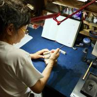 Set in stone: Yuyushi Furuta was on a path to commercial success with her calligraphy when she decided to devote herself to the art of seal engraving, which required a whole new set of tools. | KATHERINE WHATLEY