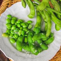 Freshly picked: Boiled edamame beans with a sprinkling of salt to taste. | MAKIKO ITOH