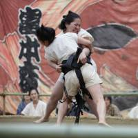 Reel champions: The female sumo wrestler subplot in 'The Chrysanthemum and the Guillotine' is interesting enough to have its own film. | © 2018 'THE CHRYSANTHEMUM AND THE GUILLOTINE' PROJECT