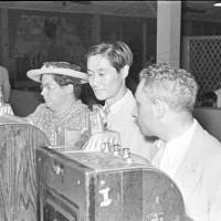 Pay to play: Slot machines at the Arcadia Russian Restaurant & Nightclub, 1940. By the end of 1933, mobster Jack Riley was widely known as the 'Slot King of Shanghai' for importing the machines to the city. | RIVERRUN