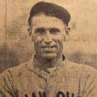 Crooked: Jack Riley in his Shanghai baseball uniform.