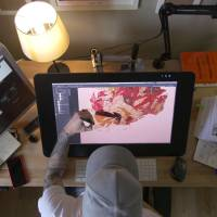 'Awaken Akira' co-creator Ash Thorp at work.