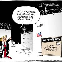 Trump's border policy making private prisons great again