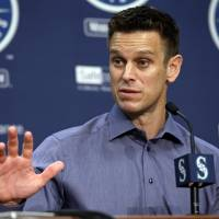 Seattle Mariners general manager Jerry Dipoto is seen in an October 2017 file photo. | AP