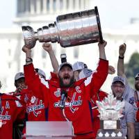 Capitals star Alex Ovechkin bringsStanley Cup to World Cup