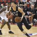 NBA prospect Yuta Watanabe, seen in action for the Brooklyn Nets, showcased his all-around skills at the Summer League in Las Vegas.