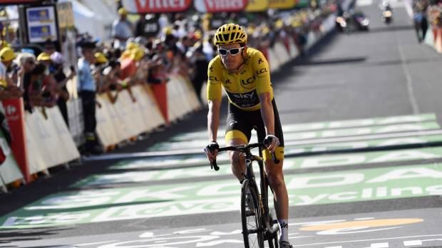 Geraint Thomas, Chris Froome remain 1-2 in Tour de France after 14th stage