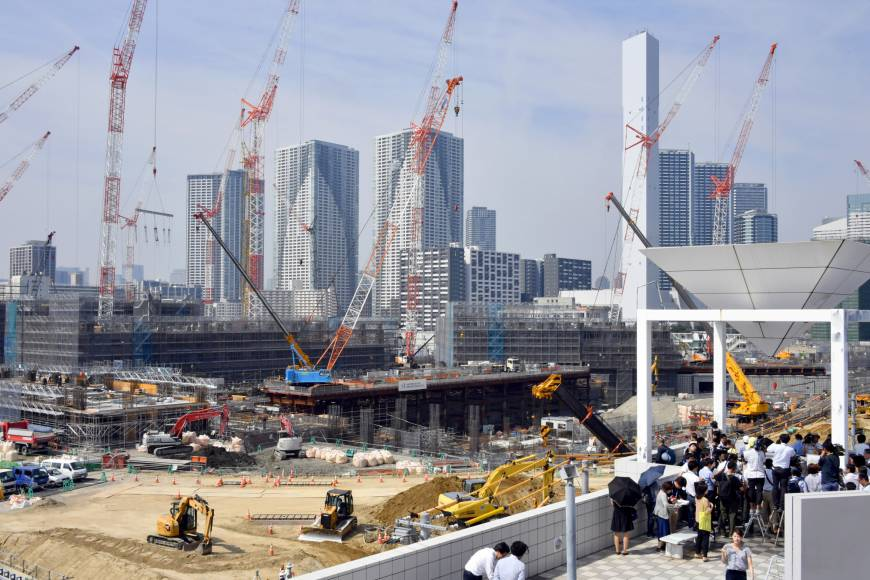 Construction on track as two-year mark approaches for 2020 Tokyo Olympics