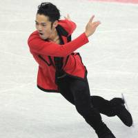 Daisuke Takahashi, the 2010 world champion and Vancouver Olympics bronze medalist, ended a four-year retirement from competitive skating on Sunday. | AFP-JIJI