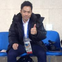 Daisuke Takahashi, the first Japanese man to win a world title and earn an Olympic medal, worked at the Pyeongchang Olympics as a TV commentator. | JACK GALLAGHER