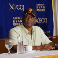 Warren Cromartie, who starred for the Yomiuri Giants for seven seasons, remains popular with fans nearly 30 years after his last game in Japan. | JASON COSKREY