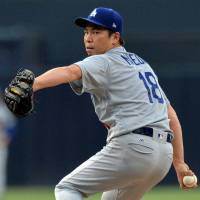 Dominant Kenta Maeda helps Dodgers hold off rival Padres