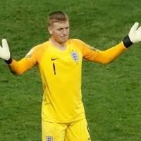 England goalkeeper Jordan Pickford is one of the national team's new, young stars. | REUTERS