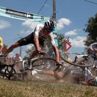 Tour de France riders grind through cobblestones in much-feared ninth stage