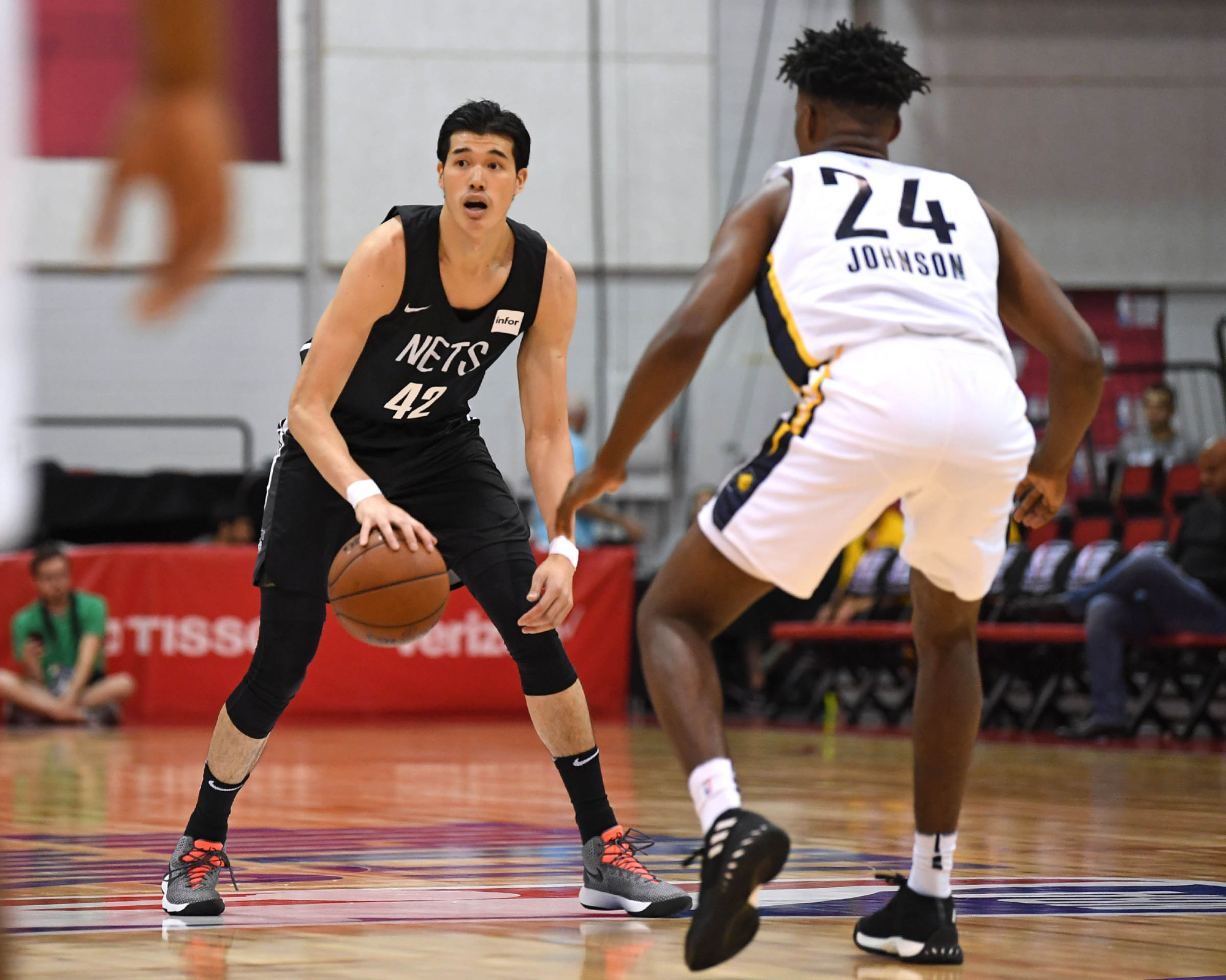 Yuta Watanabe, seen here with the Brooklyn Nets during the NBA Summer League, has signed a two-way contract with the Memphis Grizzlies. | USA TODAY / VIA REUTERS