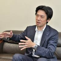 President of Coconet Co. Shuji Kawai during an interview at the company's office in Tokyo on July 25. | YOSHIAKI MIURA