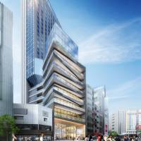 Don Quijote Holdings Co. Ltd.'s high-rise complex, seen in a rendering, is scheduled to open in Tokyo's Shibuya district in 2022. | DON QUIJOTE HOLDINGS CO.