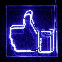 A Facebook like button is pictured at the Facebook's France headquarters in Paris last fall. | REUTERS
