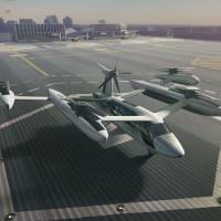 Uber plans to develop electric flying cars, similar to the one seen in this computer-generated image, that can take off and land vertically and reach a top speed of 320 kph. | UBER / VIA KYODO
