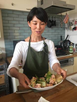 Bon appetit: Professional housekeeper Shima Tassin believes modern-day France and the Japan of the past have a lot in common when it comes to eating meals.