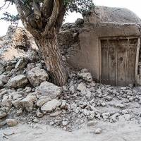 A damaged house near the Iranian city of Kermanshah is seen on Sunday after a series of earthquakes, including one at magnitude 6, killed at least two people and injured 310. | REUTERS