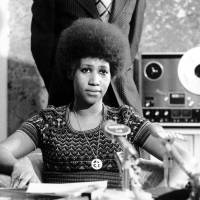 Soul singer Aretha Franklin appears at a news conference in in March 1973. | AP