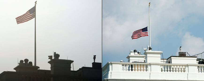 White House briefly flies flag at full-staff after John McCain's death until Trump is pressed to lower it