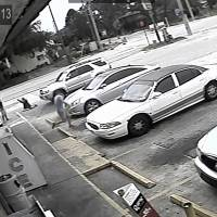 In this July 19, 2018 file frame from surveillance video released by the Pinellas County Sheriff's Office, Markeis McGlockton (far left) is shot by Michael Drejka during an altercation in the parking lot of a convenience store in Clearwater, Florida. Prosecutors charged Drejka, a white man, with manslaughter Monday in the death of an unarmed black man whose videotaped shooting has revived debate over Florida's 'stand your ground' law. | PINELLAS COUNTY SHERIFF'S OFFICE / VIA AP