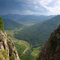 This undated photo provided by Bence Viola of the University of Torontoshows the valley above a cave where Denisovan fossils were found in the Altai Krai area of Russia. | BENCE VIOLA / DEPARTMENT OF ANTHROPOLOGY — UNIVERSITY OF TORONTO / MAX PLANCK INSTITUTE FOR EVOLUTIONARY ANTHROPOLOGY / VIA AP