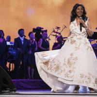 Aretha Franklin performs at the world premiere of 'Clive Davis: The Soundtrack of Our Lives' at Radio City Music Hall in April 2017. | INVISION/ VIA AP