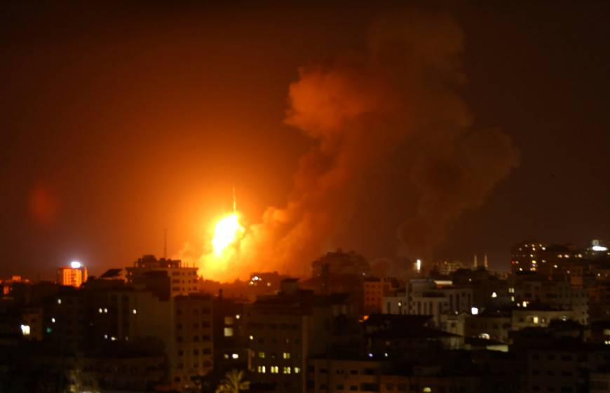 Baby among three killed as Israel strikes Gaza after rockets fired from enclave