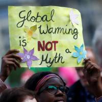 People take part in protests ahead of a G20 summit in Hamburg, Germany, last year. | REUTERS