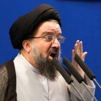 Iranian cleric Ahmad Khatami delivers a sermon in Tehran in July 2009.   REUTERS