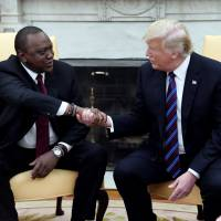 Trump welcomes president of Kenya to White House to talk trade, security and his accomplishments