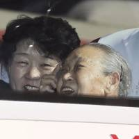South Koreans enter North to reunite with kin split by war
