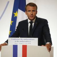 EU security must no longer depend on US, says Macron