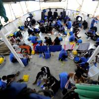 Agreeing to be transit point, Malta lets rescue boat dock with 141 migrants aboard