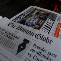 Over 300 U.S. newspapers hit back at Trump, defend free press