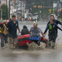 Drenching downpours snarl transport, prompt rescues in Pennsylvania
