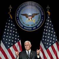 U.S. Vice President Mike Pence outlines Space Force plan for 'next battlefield'