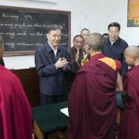 China leader calls for 'anti-separatism efforts' in Tibet