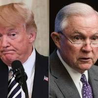 Trump calls on attorney general to end Russia probe 'Rigged Witch Hunt right now'